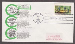 2037 Conservation Corps Artistocrat FDC with address label