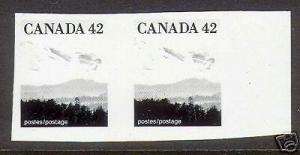 Canada #1356 XF/NH Imperf Essay Pair