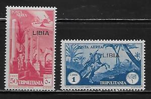 Libya C26-27 Overprint set MNH