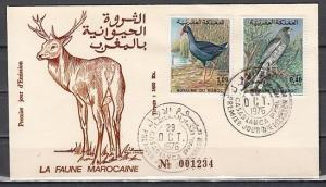 Morocco, Scott cat. 383-384. Nature Protection of Birds. First day cover. ^