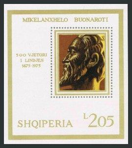 Albania 1660,MNH.Michel Bl.56. Michelangelo Buonarroti,1975.Self-portrait.