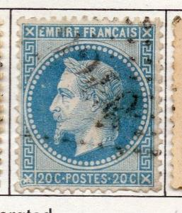 France 1863 Early Napoleon Issue Fine Used 20c. 136498