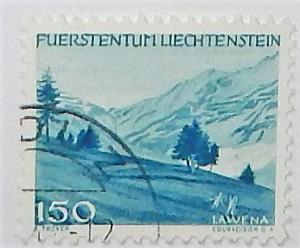 Liechtenstein 211. 1944-45 150rp Royal blue, used