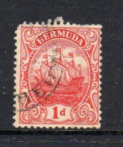 BERMUDA #83  1928  1p CARAVEL    F-VF USED  b