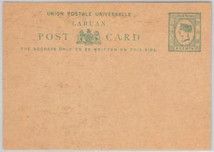 LABUAN -  POSTAL STATIONERY CARD: Higgings & Gage # 1