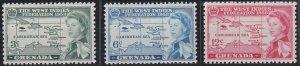 Grenada 184-186 MNH (1958)