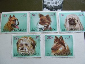 State of Oman Stamps with Dogs