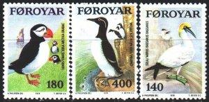 Faroe Islands. 1978. 36-38. Birds, fauna. MNH.