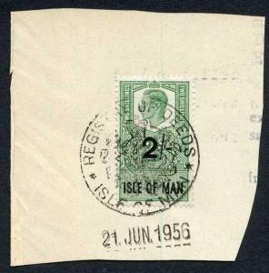 Isle of Man KGVI 10/- 1/- and 2/- Key Plate Type Revenues CDS on Piece