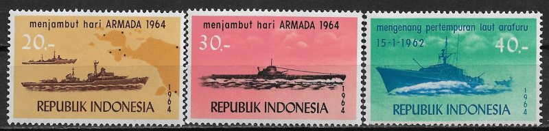 Indonesia MNH 648-50 Indonesian Navy