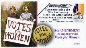 20-147, 2020, SC 5523, Women Vote, Pictorial Postmark, Event Cover, Seneca Falls