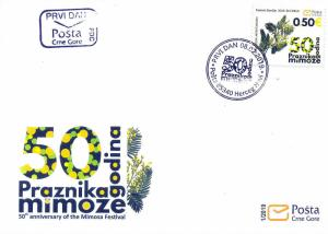 MONTENEGRO/2019 - (FDC) 50th anniversary of the Mimosa Festival (Flora), MNH
