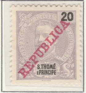 Portugal ST. THOMAS AND PRINCE ISLANDS 1911 20r MNG A5P55F8