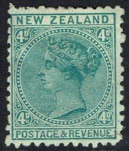 NEW ZEALAND 1882 QV 4D PERF 12 X 11.5