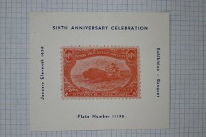 Bison Philatelic Society BPS 1938 Indian sc#287 spoof Souvenir ad label stamp