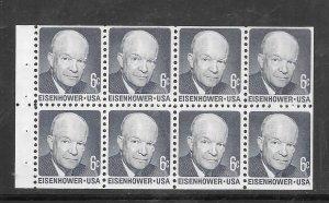 #1393a MNH Dwight Eisenhower dull gum Pane of 8