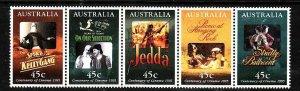 Australia-Sc#1445a- id5-unusedNH strip-Movies-Posters-1995-