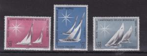 ITALY 1965  S G 1133 - 1135  WORLD SAILING  M / N / H