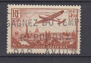 J29307, 1936 france used #c13 airplane