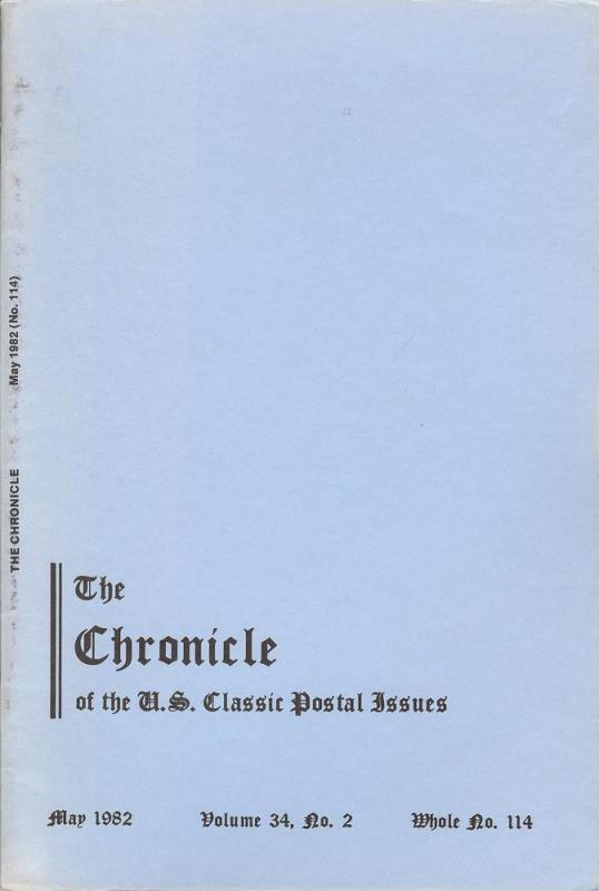 The Chronicle of the U.S. Classic Issues, Chronicle No. 114