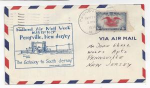 National Air Mail Week 1938 Cover NAMW Pennsville NJ C23