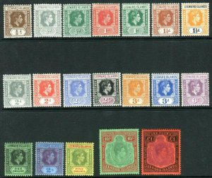 LEEWARD ISLANDS-1938-51  A mounted mint set to £1 Sg 95-114c