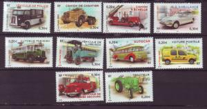 J20467 Jlstamps 2003 france set mnh #2980a-j transportation