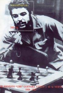 TURKMENISTAN 1997 YT#7 Che  Guevara PLAY CHESS Souvenir Sheet Perforated MNH