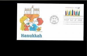 2002 First day Cover Hanukkah Washington DC