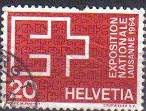 SWITZERLAND, 1963, used 20c, Swiss National Exhibition, Lausanne.