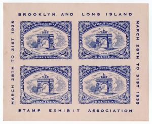 (I.B) US Cinderella : Brooklyn & Long Island Stamp Exhibition (1935)