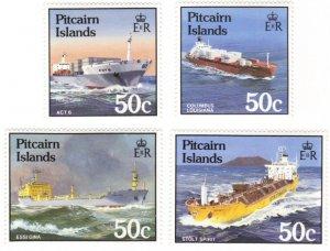 Pitcairn #258-61 MNH set – cargo ships
