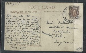 SOUTHERN RHODESIA COVER (PP1211B) KGV 1 1/2D ON PPC TO ENGLAND VICTORIA FALLS