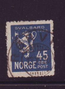 Norway Sc 114 1925 45 ore Spitsbergen Annexation stamp used