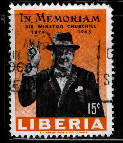 LIBERIA Scott 432 Used Churchill stamp