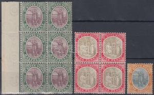 Anguilla,Nevis stamp  Mi 1 margin block of 6, Mi 2 block of 4, Mi 7 WS131304
