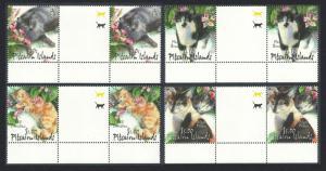 Pitcairn Cats 4v Gutter Pairs SG#618-621 SC#557-560