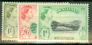 Swaziland 55-66 MNH some toned perfs CV $110; scan shows only a few