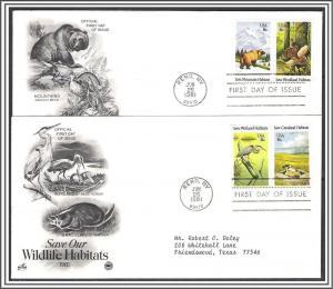 US #1924a Wildlife Habitats FDC