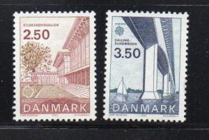 Denmark Sc 738-9 1983 Europa stamp set mint NH