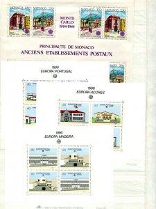 Europa CEPT 1990 complete VF NH  - Lakeshore Philatelics