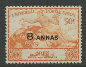 STAMP STATION PERTH Aden #34 - UPU Issue 1949  MLH  CV$1.25.