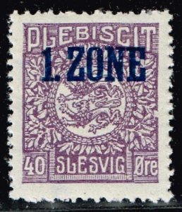 GERMANY STAMP PLEBISCIT 1.ZONE OVERPRINT SLESVIG  40øre MH/OG TYPE 9 VI  $143