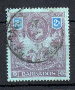 Barbados KGV 1912 2/- blue good CDS used SG#179 WS13511