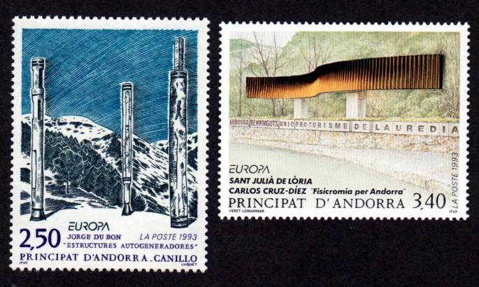French Andorra 425-426 Mint NH MNH Europa!