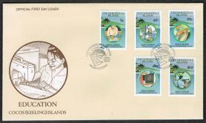 Cocos (Keeling) Is. Education 5v FDC 1993 SG#284-288
