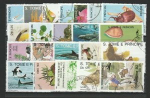 Sao Tome & Principe Topical Very Fine Used Stamps Lot Collection 15399