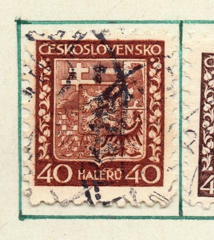 Czechoslovakia 1929 Early Issue Fine Used 40h. 230269