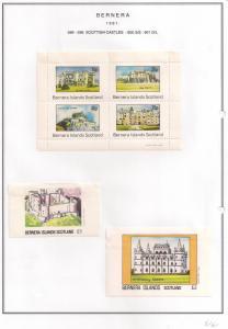 SCOTLAND - BERNERA - 1981 - Scottish Castles - 4v Perf, Min, D/L Sheets - MLH