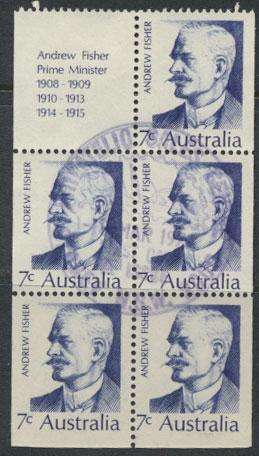 Australia SG 505a Booklet pane with one label Fine Used